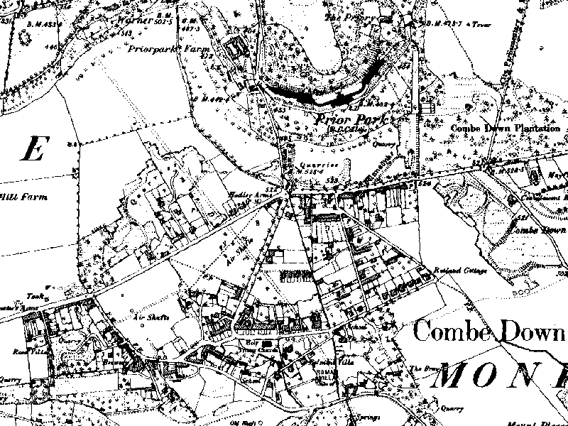 Combe Down in 1887 (click to enlarge)